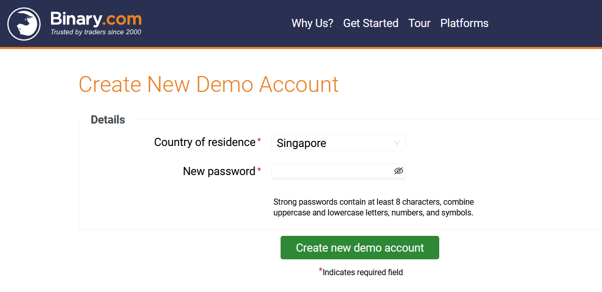 How to Open a Trading Account in Binary.com