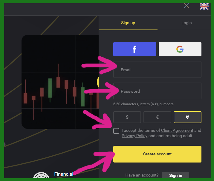 How to Register and Trade Binary Option at Binomo