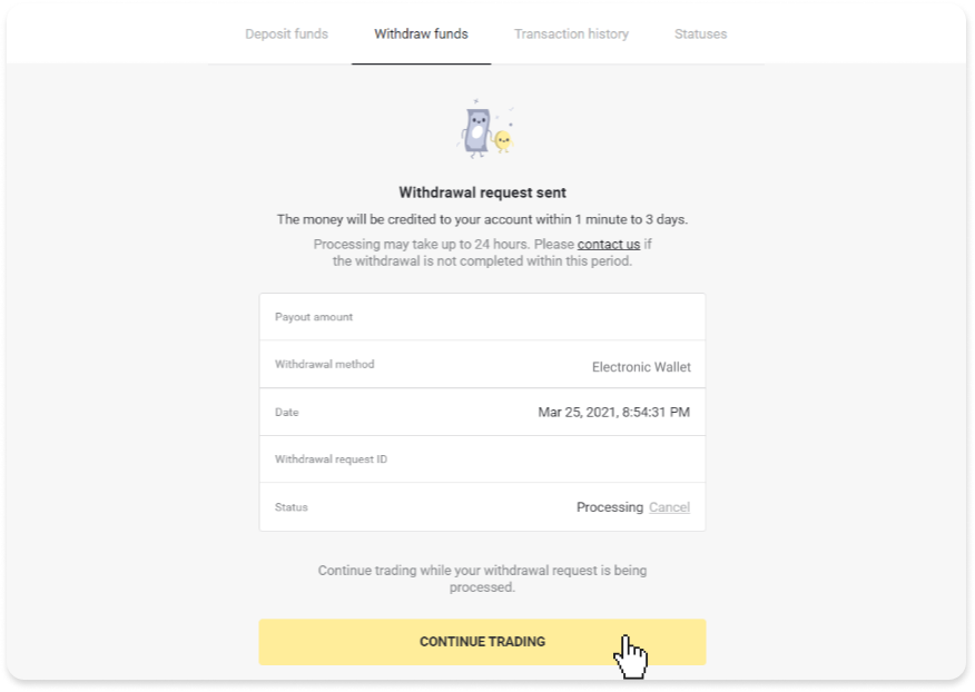 How to Withdraw and Make a Deposit Funds in Binomo
