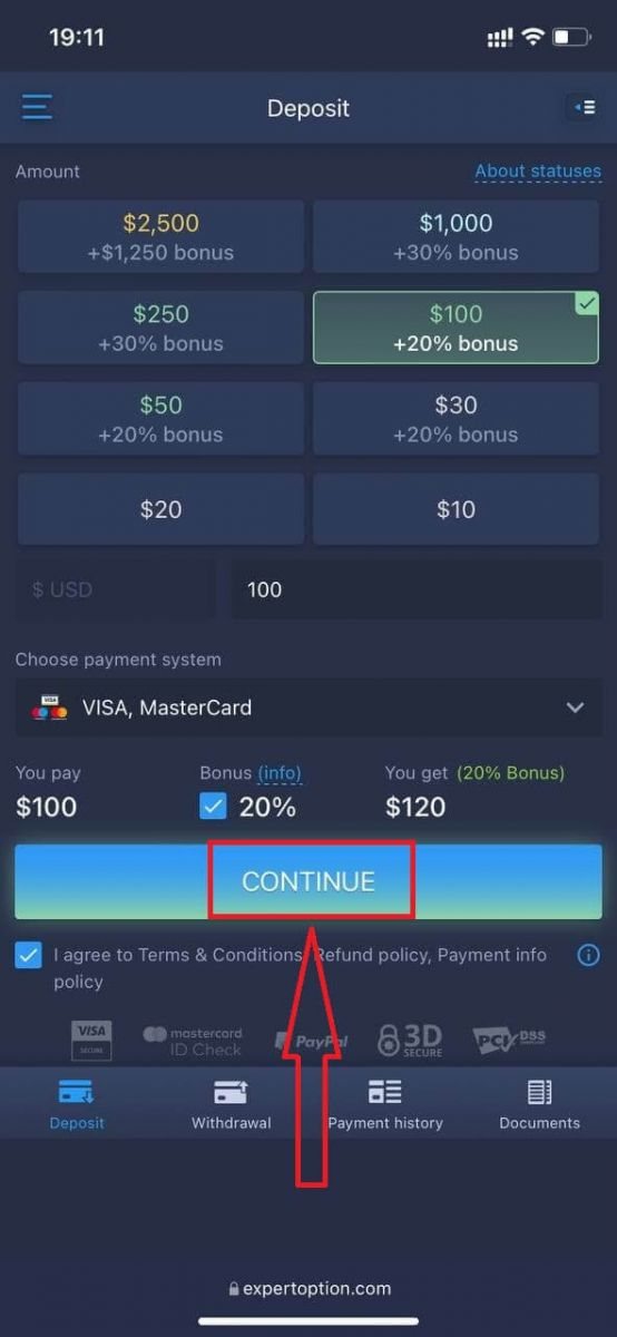 How to Login and Deposit Money in ExpertOption