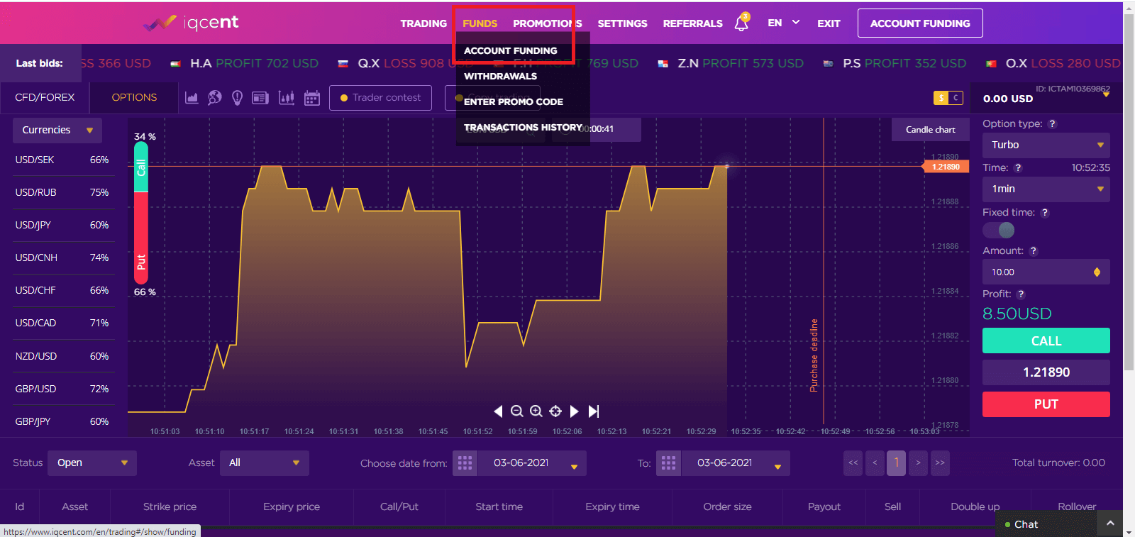 Frequently Asked Question (FAQ) of Trading in IQcent