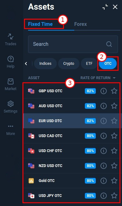 OTC trading at Quotex. How to trade during the weekend?