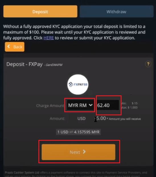 How to Deposit Money in Spectre.ai